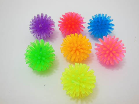 100 Spiky Ball Play Soft Spiked Toy Balls Mixed 32mm